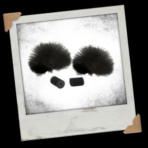 Rycote 065501 Windjammer for Lavalier - Black (Pack of 2)
