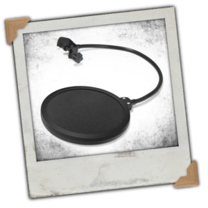 Microphone Pop Filter Swivel with Double Layer Sound Shield