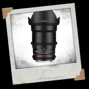 Samyang 35mm T1.5 VDSLR II Manual Focus Video Lens (Canon EF Mount)