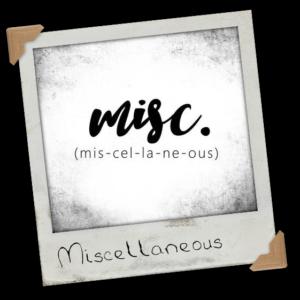 Miscallaneous